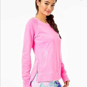 New Lilly Pulitzer Pink Beach Comber Pullover M